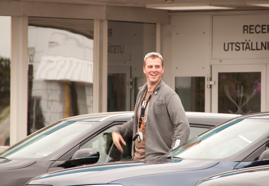 Proud owner Markus Lafrentz next to his Nr 4